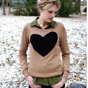 "🖤 J. Crew Cashmere ""Heart Me"" Sweater"